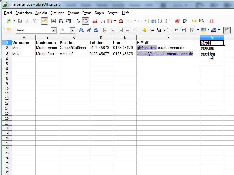 Tutorial visitenkarten erstellen im hoch und querformat for Tabelle querformat