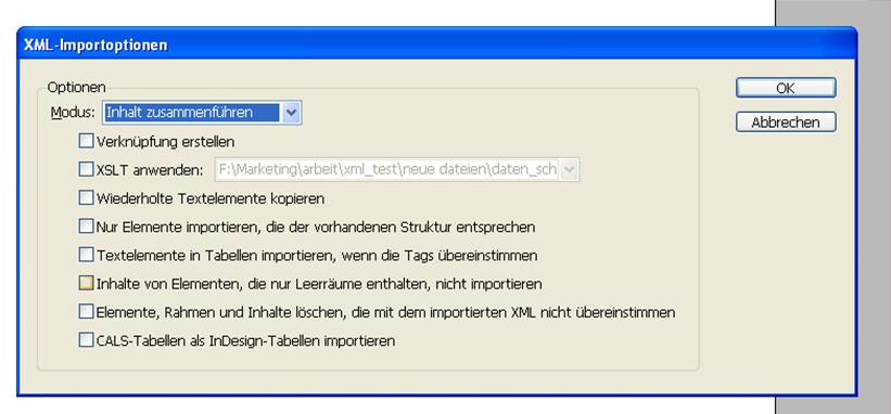 Tutorial 1  Teil: XML & InDesign Scripting is the key
