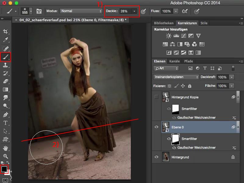 photoshop 2 bilder übergang