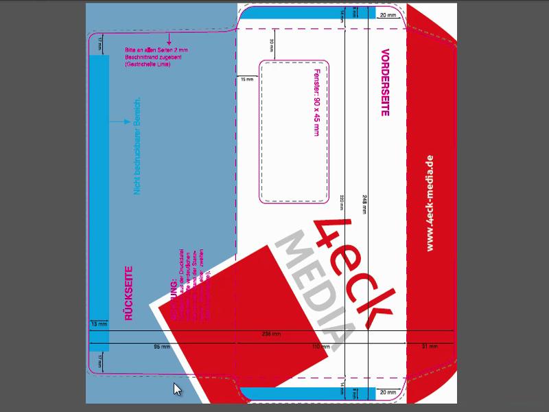 Generelle Druckvorbereitung und Briefumschläge im Businesslook ...