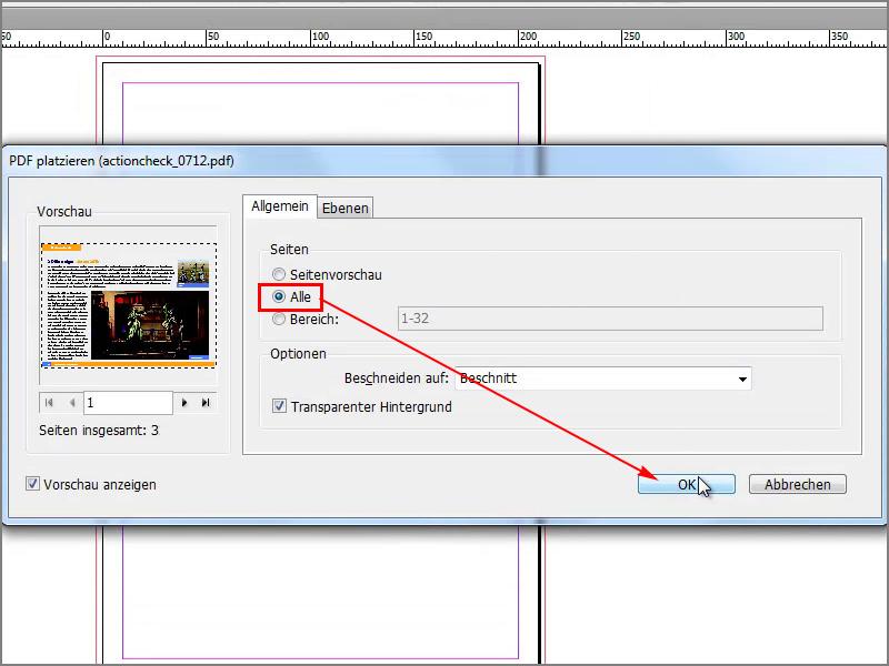Mehrseitige PDF in InDesign importieren, platzieren – InDesign ...