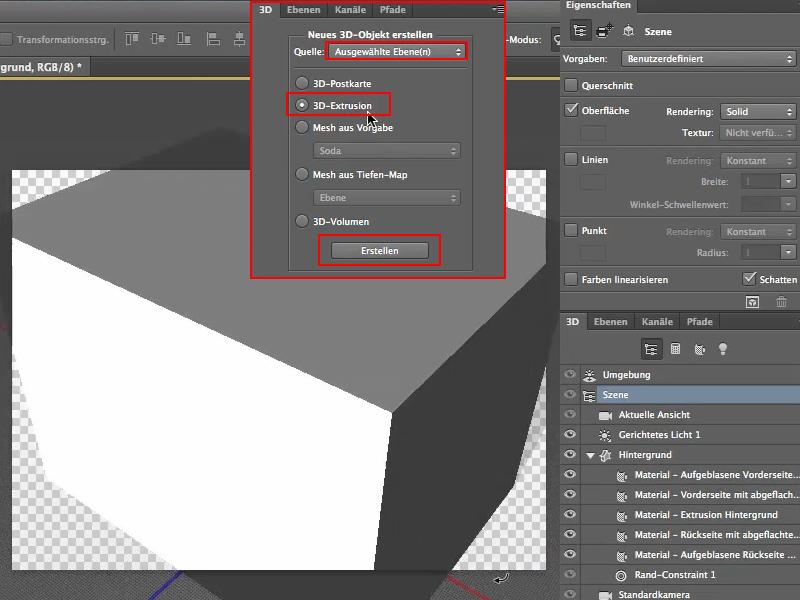 Extrudieren Mit Photoshop 3d Photoshoptutorialsde