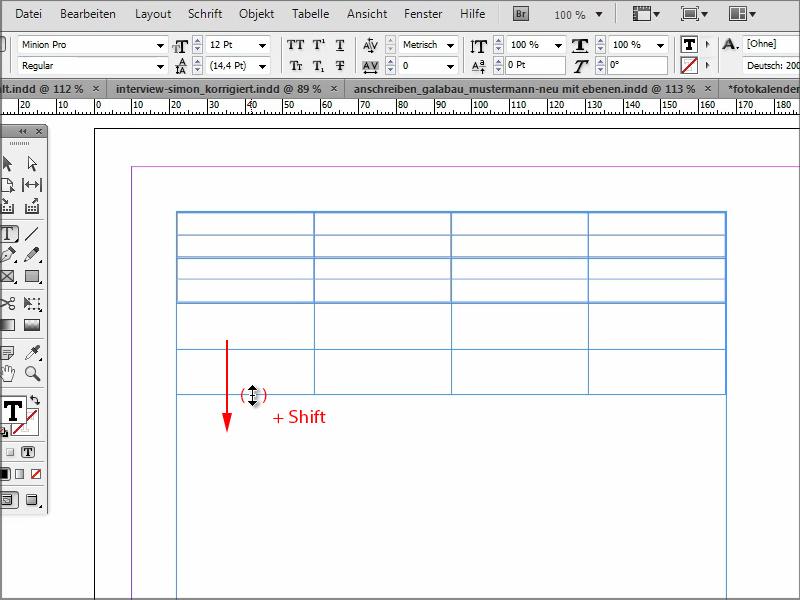 InDesign Tabelle bearbeiten – Tabelle Indesign | InDesign-Tutorials.de