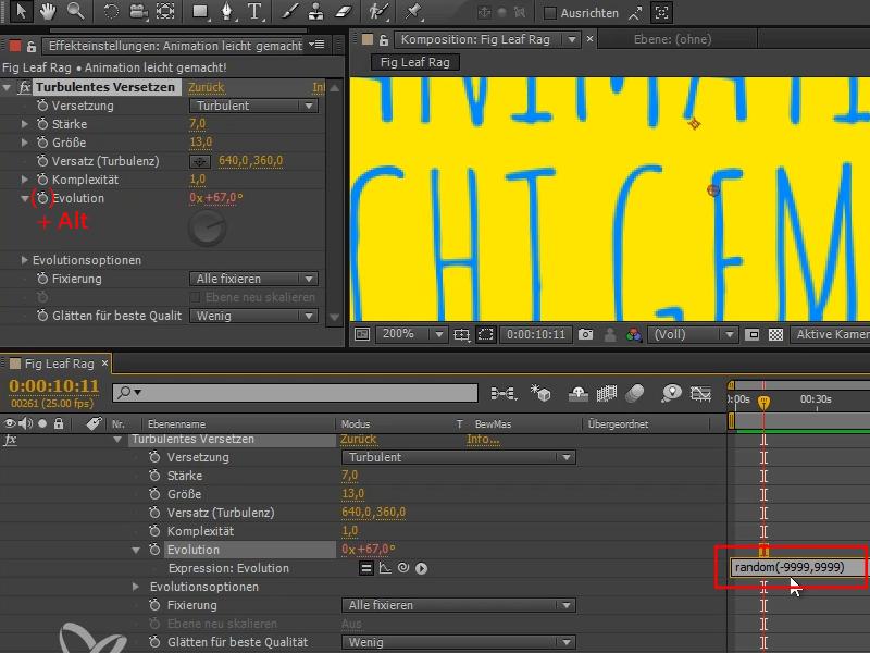 Tutorial Animation leicht gemacht: Das Textflackern