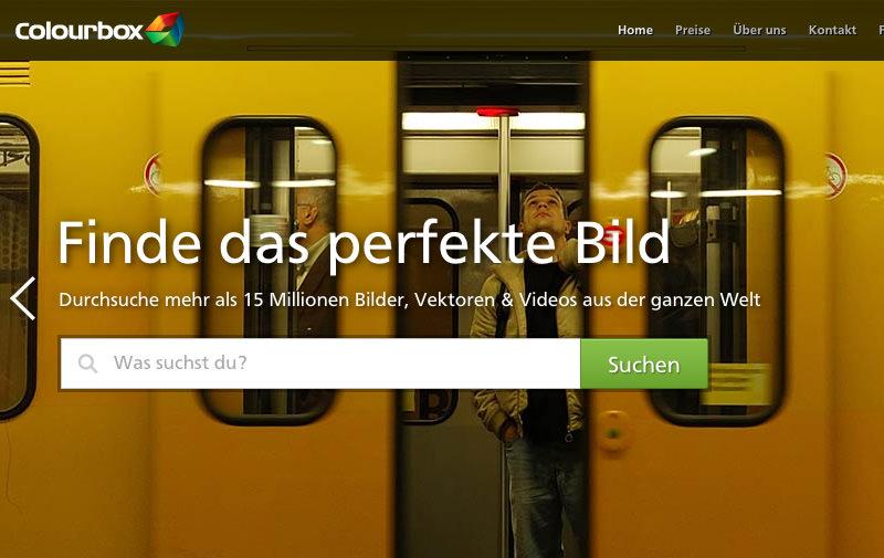 Screenshot: colourbox.de