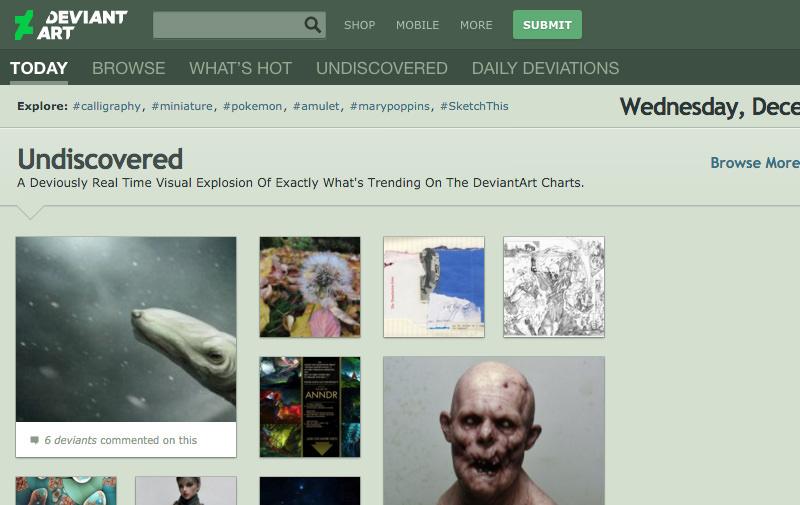 Screenshot: deviantart.com