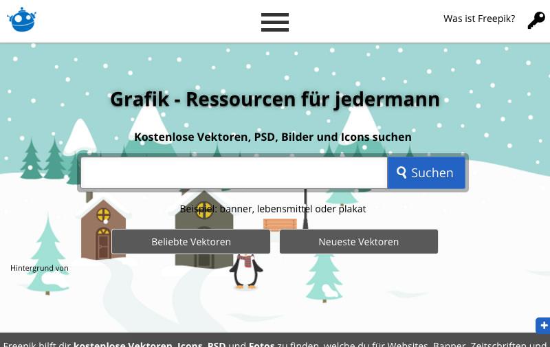 Screenshot: de.freepik.com