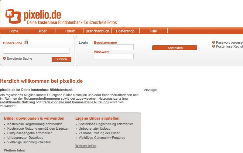 Screenshot: pixelio.de