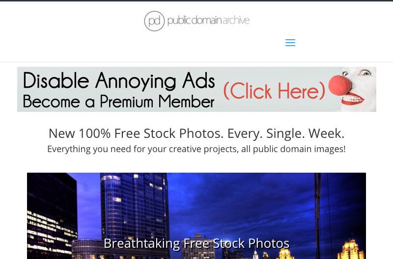 Screenshot: publicdomainarchive.com