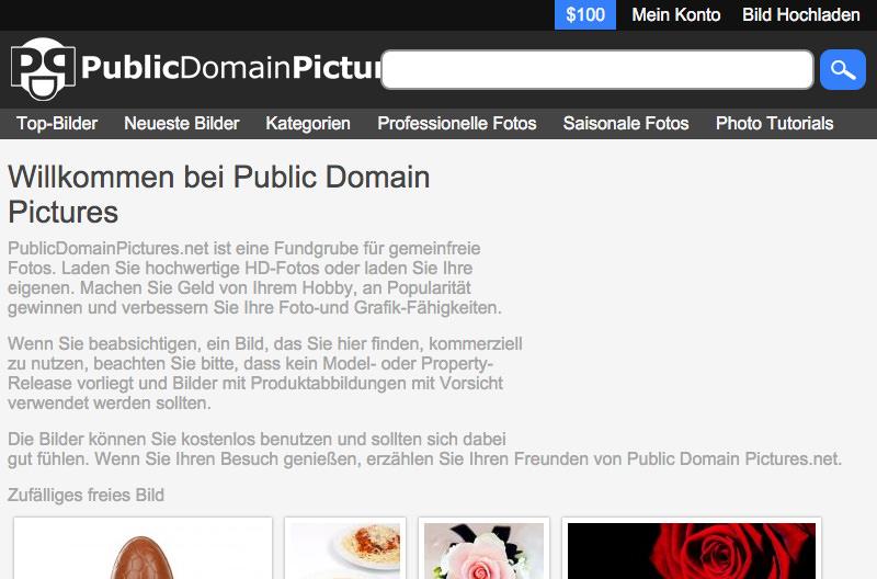Screenshot: publicdomainpictures.net