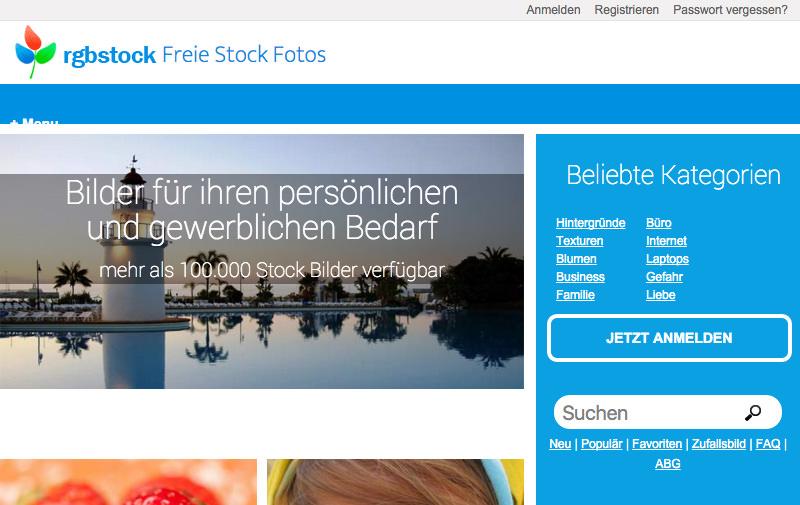 Screenshot: rgbstock.de