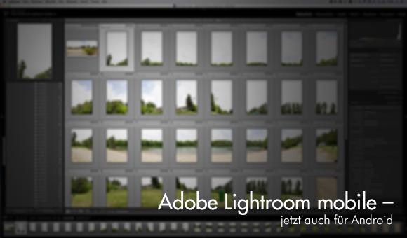 Screenshot Adobe Lightroom mobile für Android-Geräte