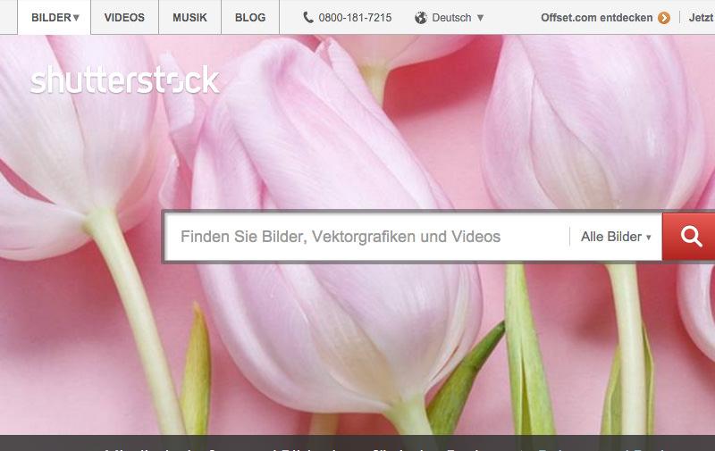 Screenshot: shutterstock.com