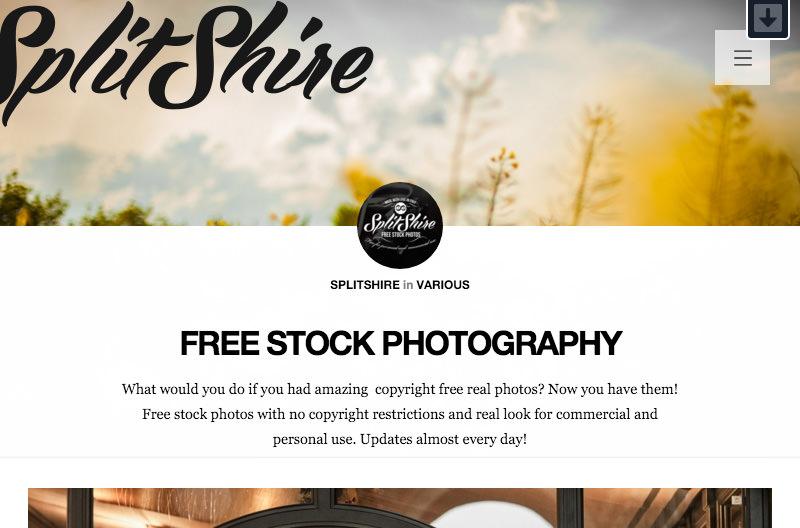 Screenshot: splitshire.com