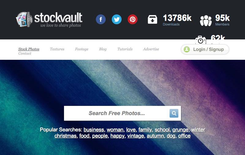 Screenshot: stockvault.net