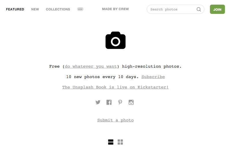 Screenshot: unsplash.com