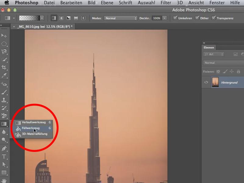 Photoshop hintergrund transparent verlauf