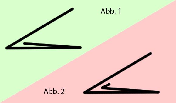 Flyer gefalzt - schematische Zeichnung