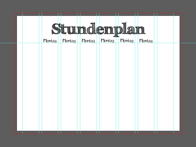 stundenplan erstellen in illustrator  anleitung