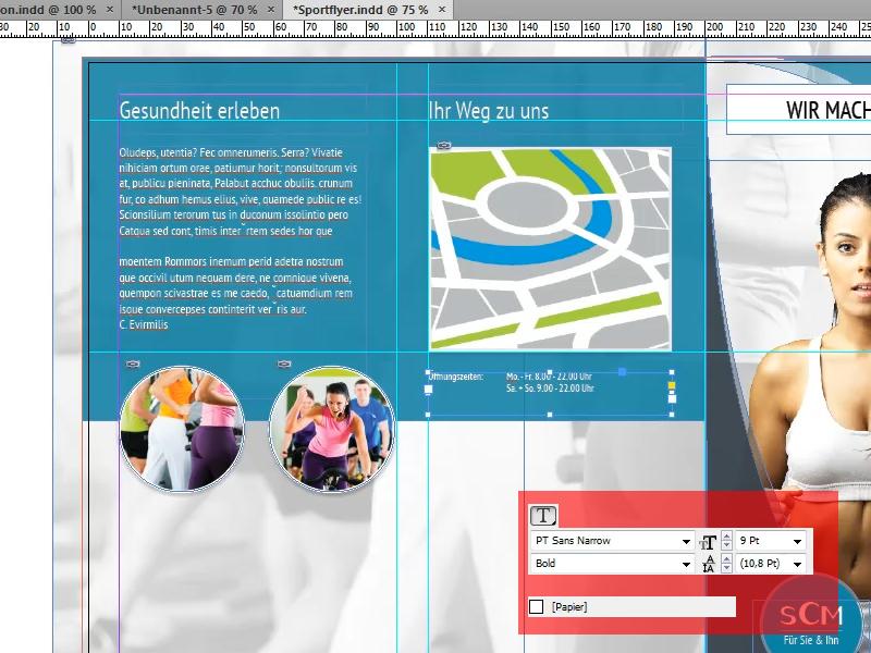 Oeffnungszeiten unter Karte hinzufuegen und formatieren