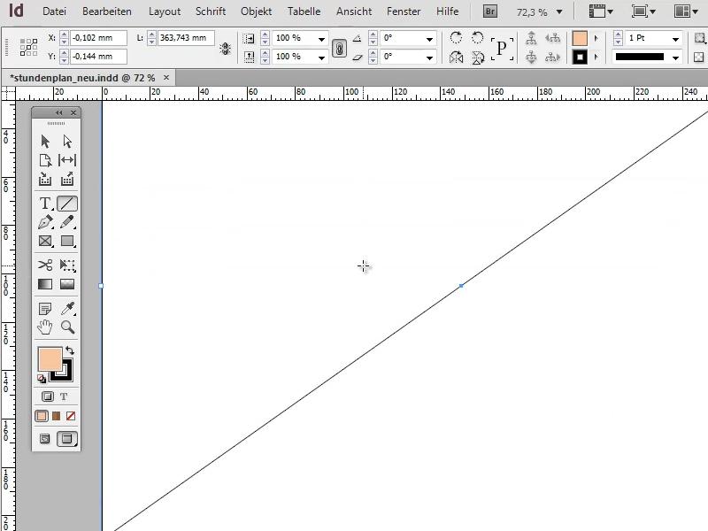 Banner: Diagonale Linie erstellen