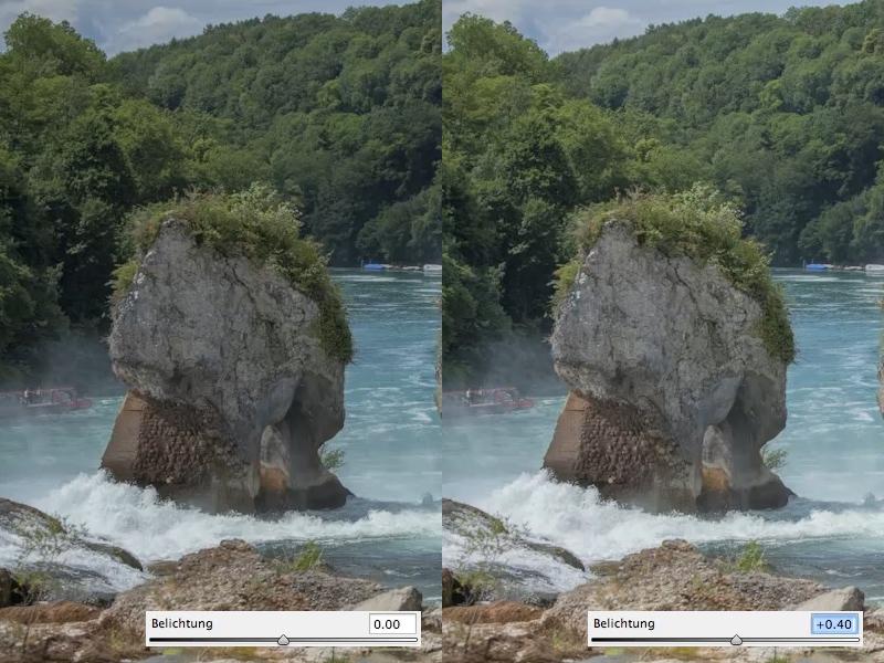 Camera Raw: Beispielbild: Erhöhung Belichtung
