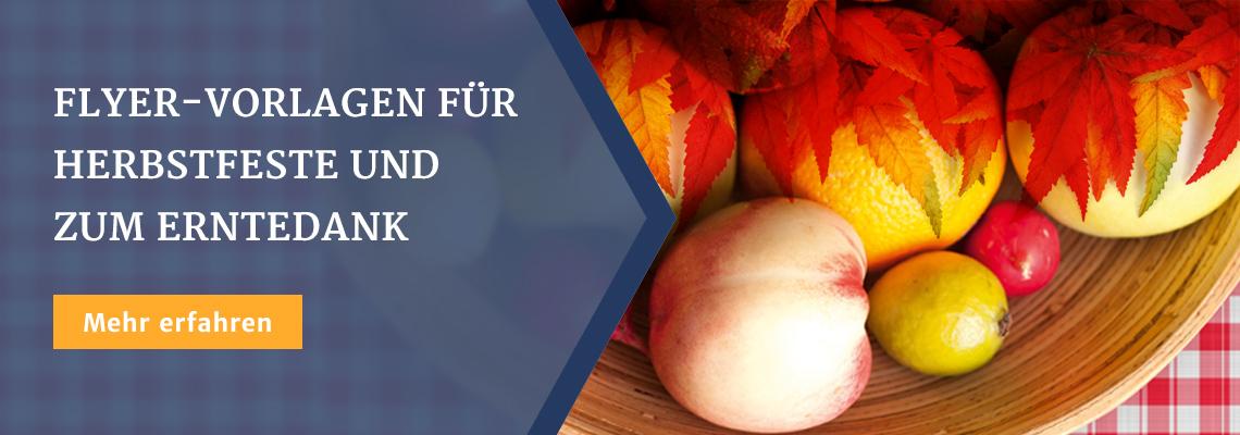 Flyer-Vorlagen für Herbstfeste und zum Erntedank
