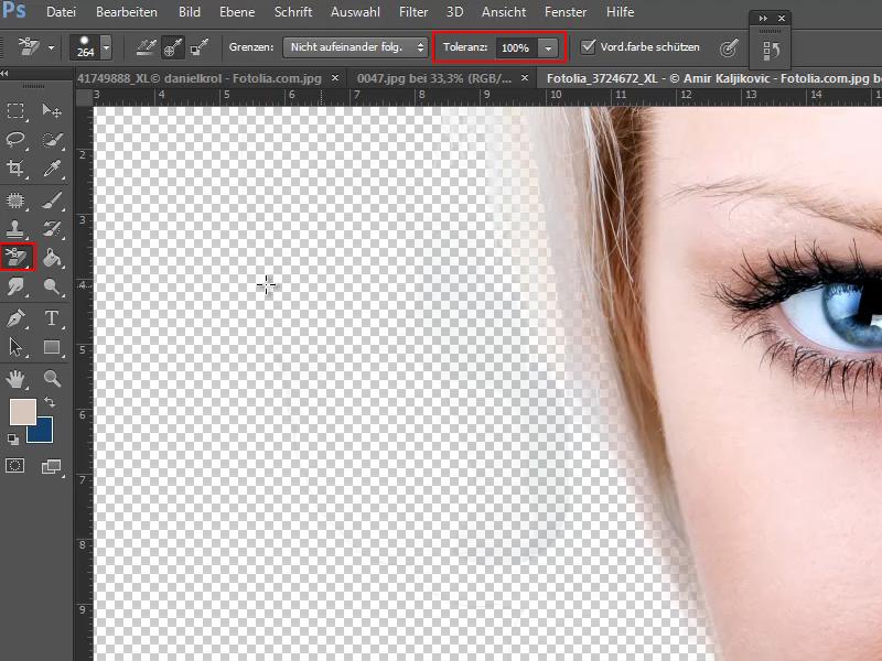 Photoshop schrift vom hintergrund freistellen