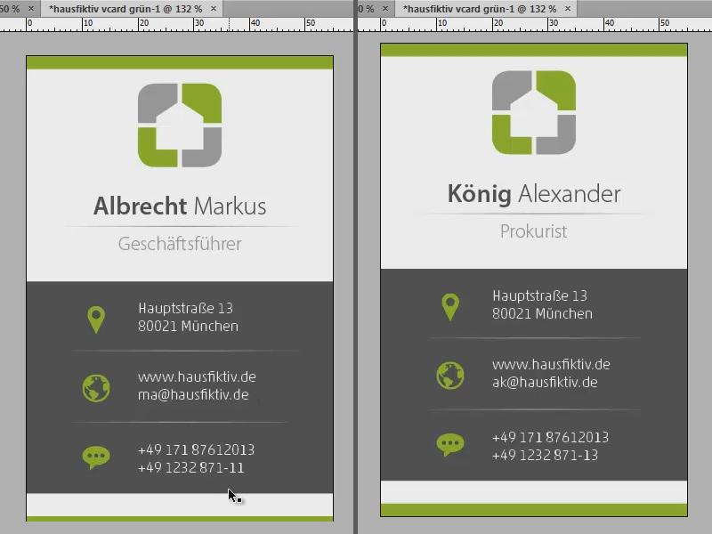 Visitenkarte Gestalten Mit Indesign Datenzusammenführung