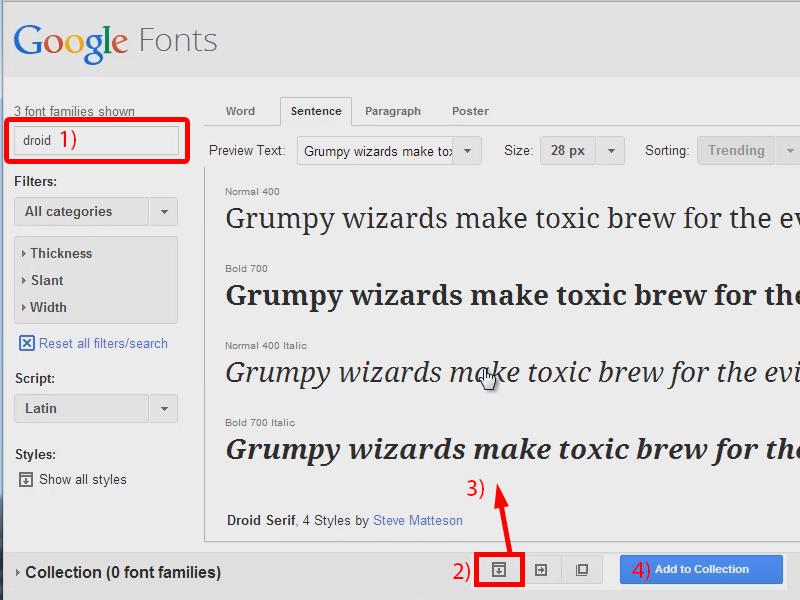 fonts herunterladen