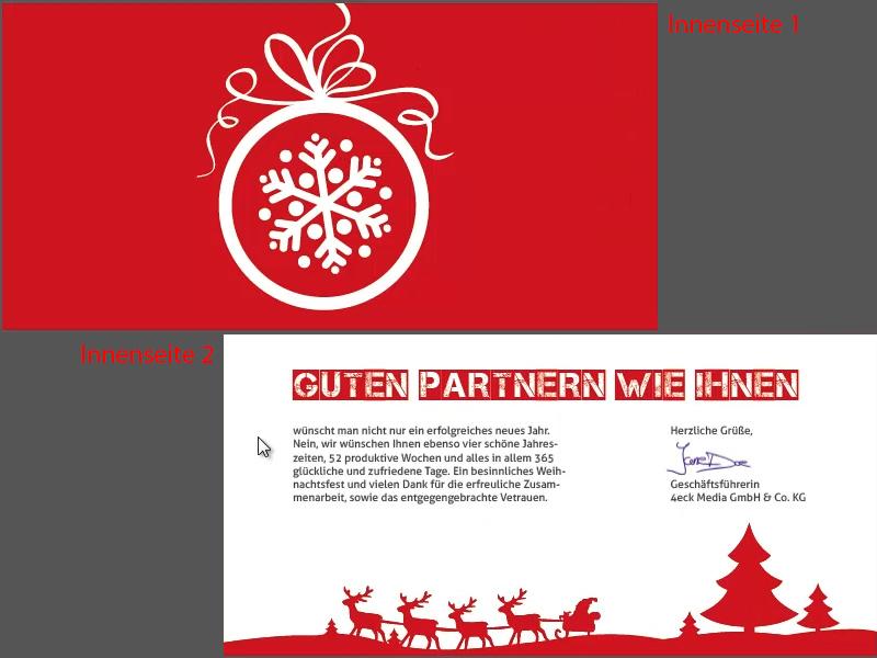 Weihnachtskarten Per Whatsapp.Weihnachtskarten Gestalten Grußkarten Erstellen Indesign