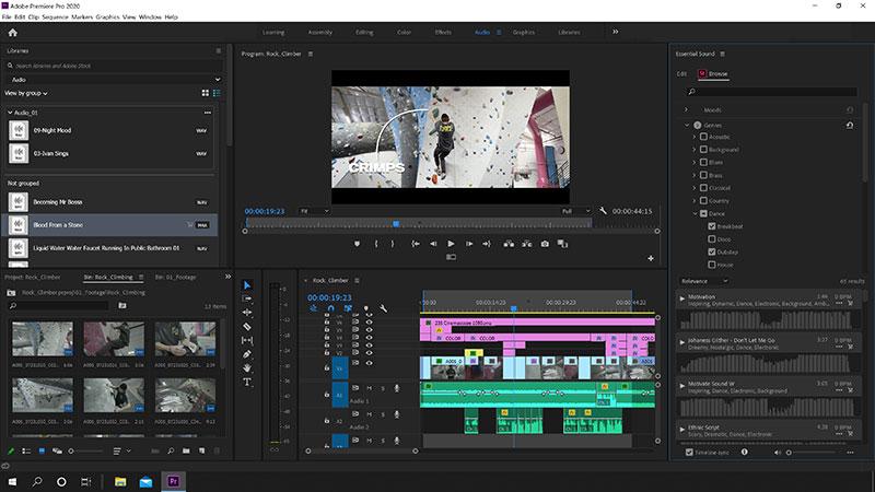 Stock Audio in Premiere Pro