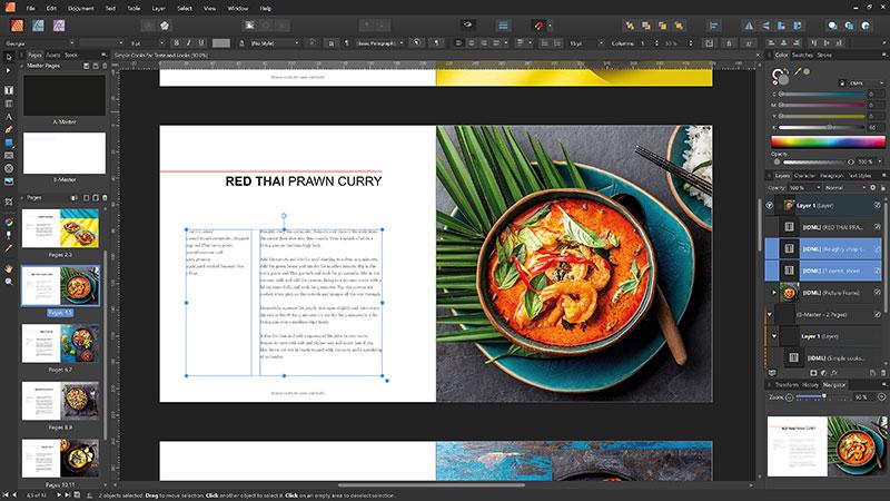 Affinity Publisher unterstützt den Import von IDML-Dateien