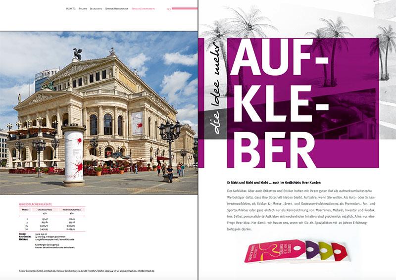 Seiten aus dem Kreativ-Katalog der Colour Connection GmbH