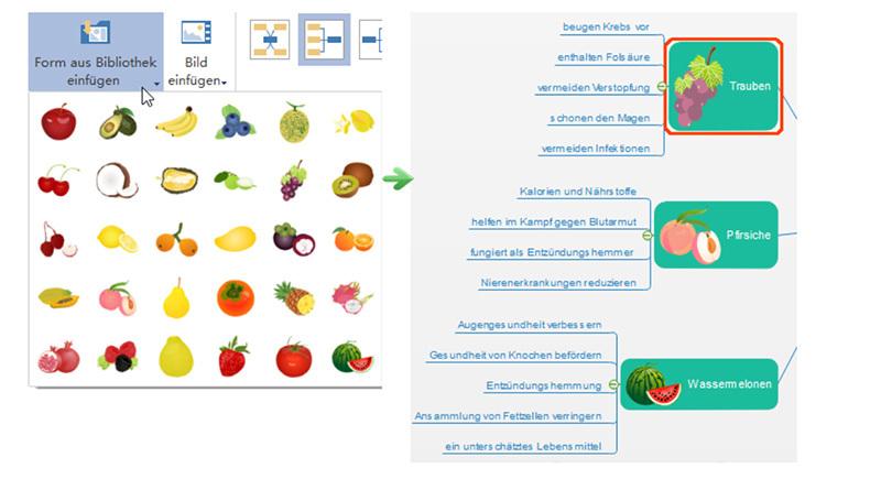 Screenshot Edraw Mindmaster: Symbole