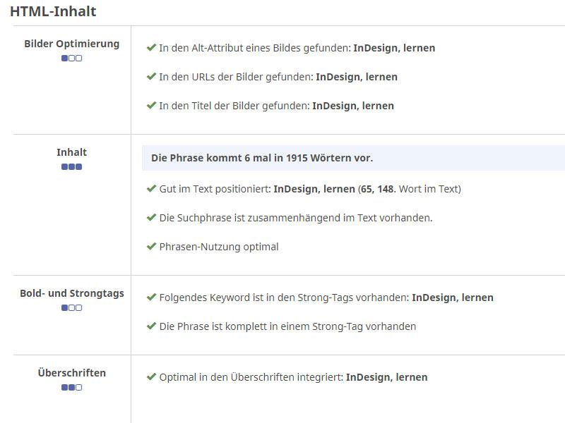 Bericht zur Korrektur von HTML-Inhalten zur SEO-Optimierung im Online-Shop