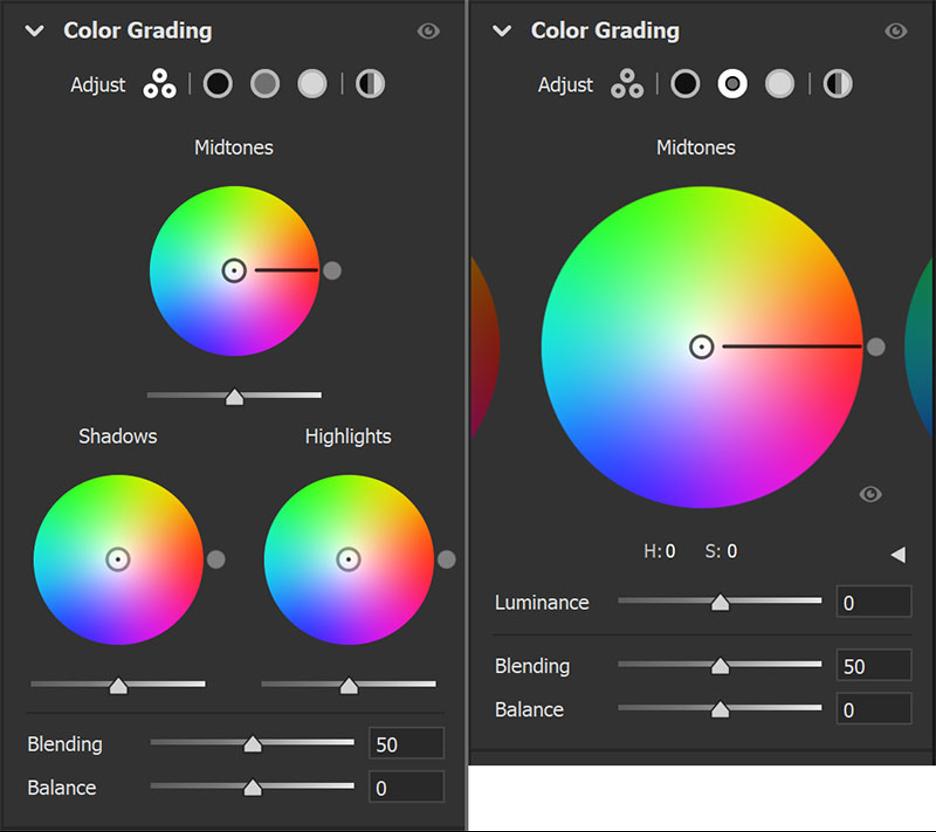 Die neue Color Grading-Funktion in Lightroom.