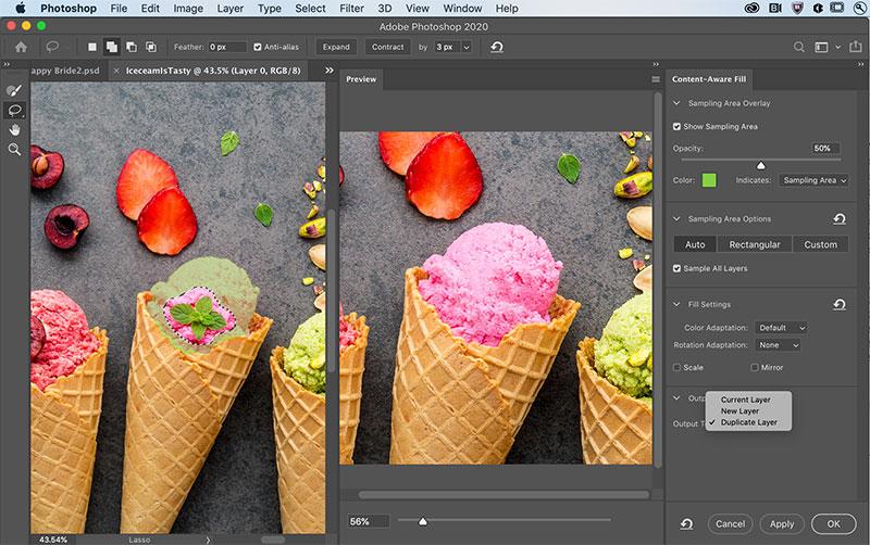 Inhaltsbasierte Füllung in Photoshop
