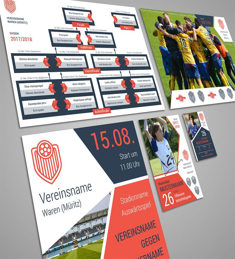 Design-Vorlagen für Sportvereine