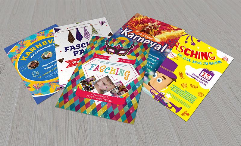 Design-Vorlagen für Karneval und Fasching