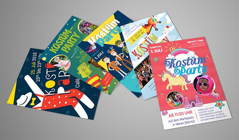 Design-Vorlagen für Kinder-Faschingsfeste