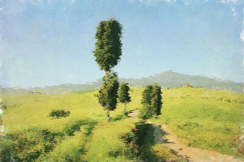 Bild aus langen Pinselstrichen