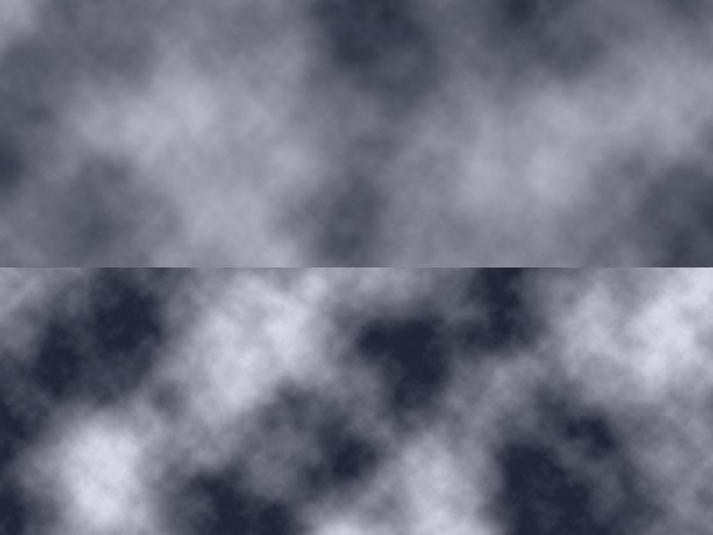 Wolken mit verstärktem Kontrast