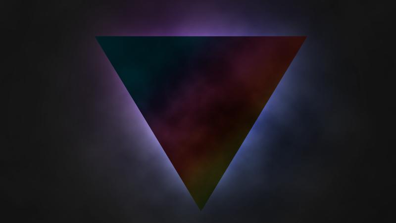 Dreieck über den Wolken