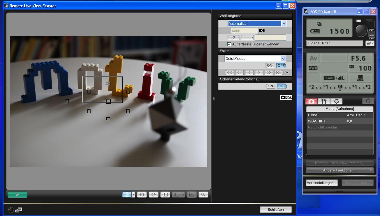 Beispiel für eine Remote-Funktion bei Canon Kameras