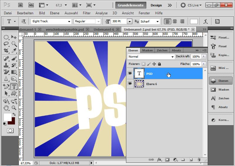 Fünf Quickys Für Coole Typo Effekte Photoshoptutorials De