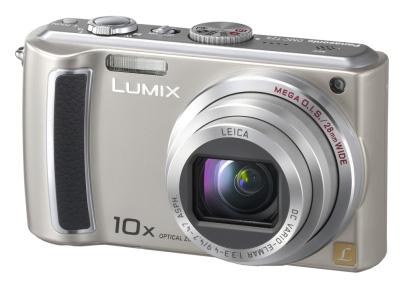 Eine typische Kompaktkamera mit fest eingebautem Objektiv. Der Brennweitenbereich liegt bei ca. 28-280 mm (Kleinbildformat), man ist also grundsätzlich für fast alle fotografischen Situationen gerüstet. (Foto: Panasonic)