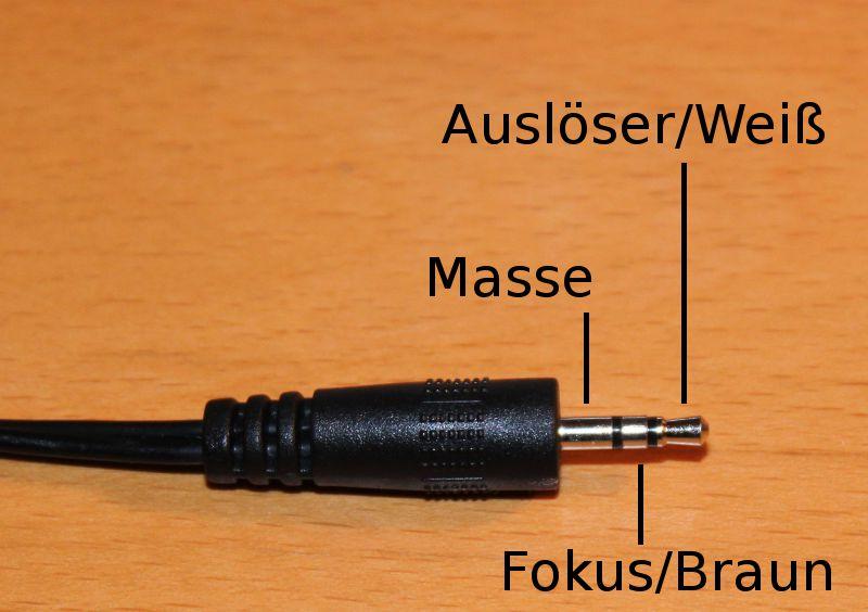 Steckerbelegung 2,5mm Klinke