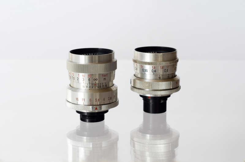 Die Zeiss-Biotare 25mm und 12,5mm sind eigentlich Objektive für Pentaka  8mm-Schmalfilmkameras, haben aber eine extrem gute Lichtstärke und in Retrostellung eine Abbildungsqualität die sogar noch die vieler Mikroskop-Objektive übersteigt. Mit dem Biotar 12,5mm ist ei Abbildungsmaßstab am Balgen bis zu 14:1 möglich (siehe Bild 1)