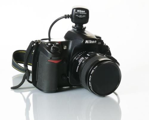 Die D300 ist eine SLR-Kamera, die sehr flexibel im Studio genutzt werden kann, hier mit 60-mm-Makro-Objektiv und Infrarot-Fernbedienung.